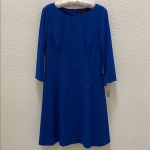 Tahari Arthur S. Levine Cobalt Blue Dress